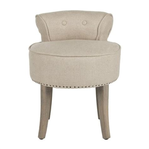 safavieh birch wood vanity stool in white mcr4546g