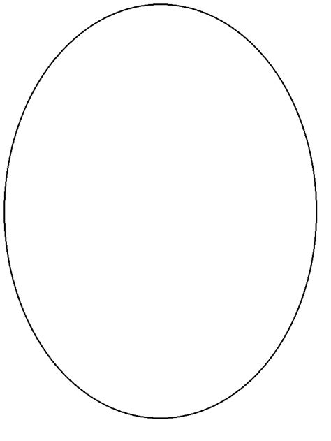 printable oval simple shapes coloring pages