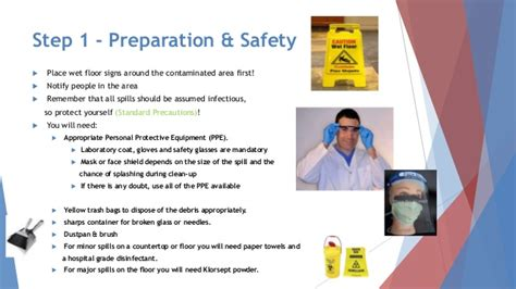 8 Steps To A Clean Up by Presentation Blood Spill Handling Amc