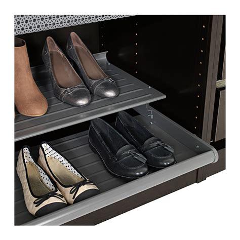 ikea sneaker shelves komplement pull out shoe shelf dark grey 100x58 cm ikea