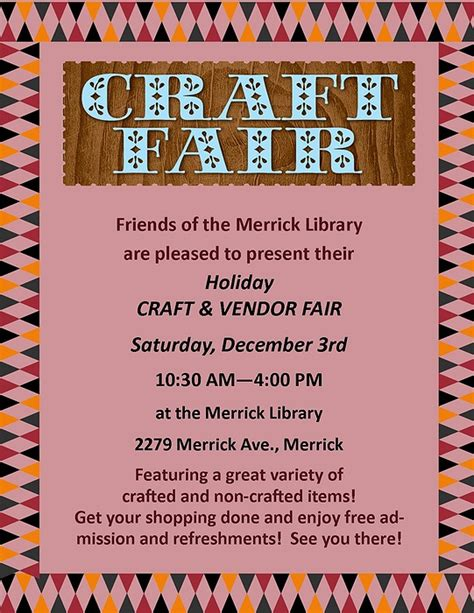 the craft fair vendor guidebook ideas to inspire books friends of the merrick library craft vendor fair