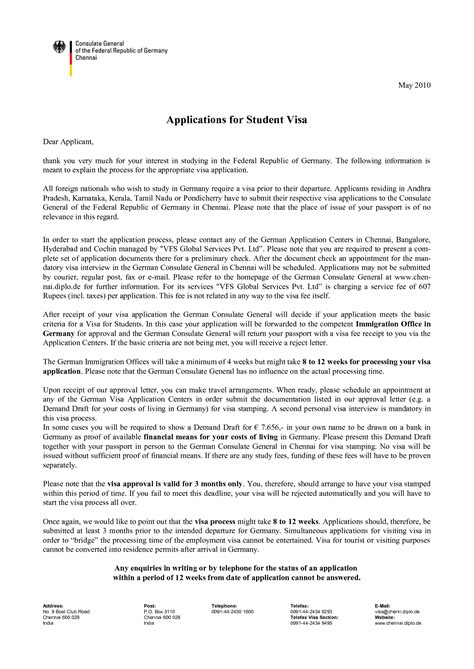 cover letter format in germany cover letter for student visa application cover letter