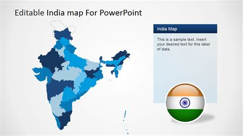 Editable India Map Template For Powerpoint Slidemodel Editable Map Of India