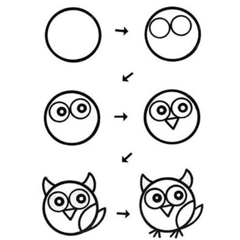 how to draw doodle owl owl drawing step by step owl drawing step by step
