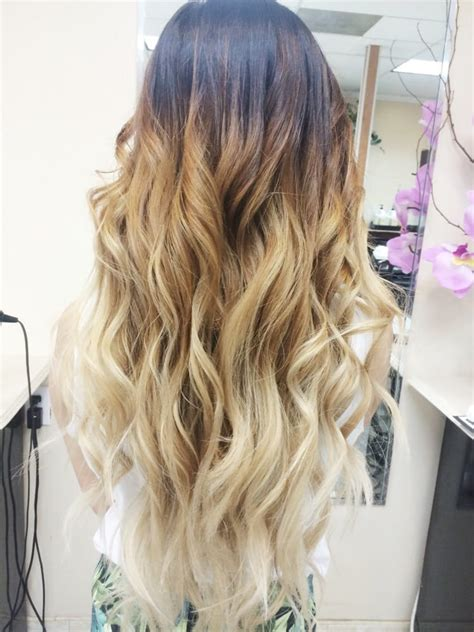 platinum blonde and brown ombre black to platinum blonde ombre by kim definitely