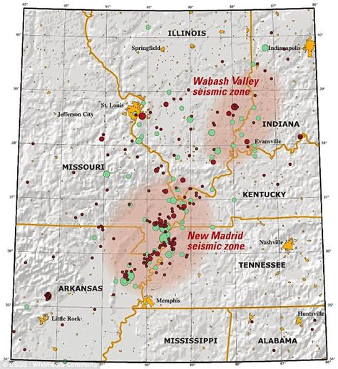 kentucky earthquake map place evidence of the 7 of 10 plate movements here