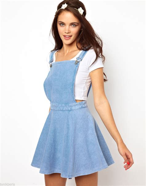 Dress Overall Overall denim overall skater dress on the hunt