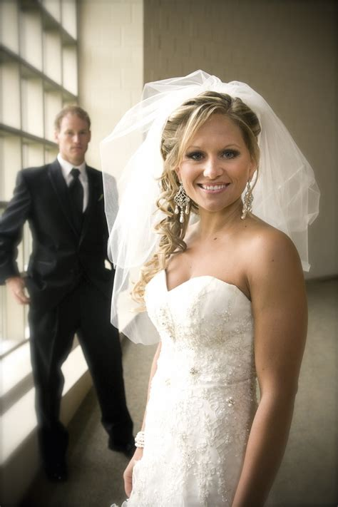 Wedding Hairstyles Side Ponytail With Veil by Project Wedding Photos Project Wedding