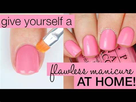 how to paint your nails perfectly salon manicure at home