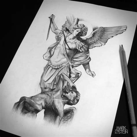 tattoo pen michaels st michael statue tattoo drawing google search angel