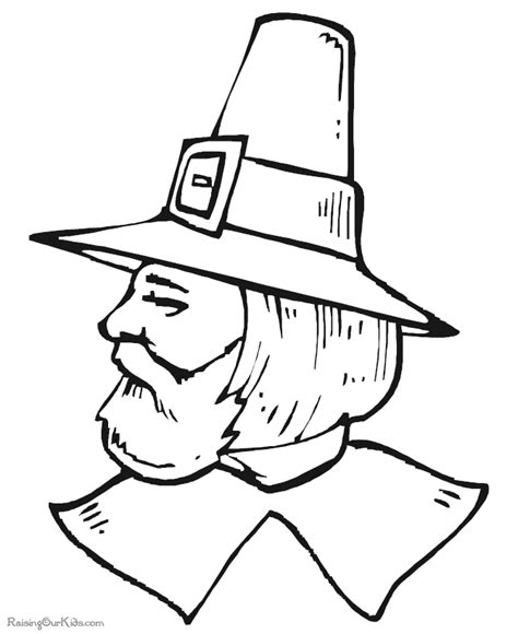 pilgrim coloring pages for kindergarten preschool coloring page of thanksgiving pilgrim 009