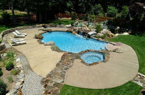 cool decking around pool