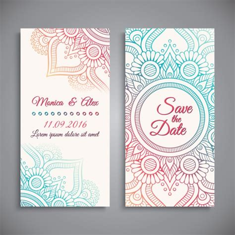 Wedding Invitation Banner Design by Wedding Invitation Design Vector Free