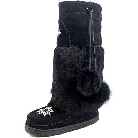manitobah mukluk suede black winter boot boots