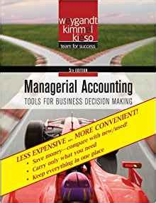 managerial accounting binder ready version books managerial accounting binder ready version tools for