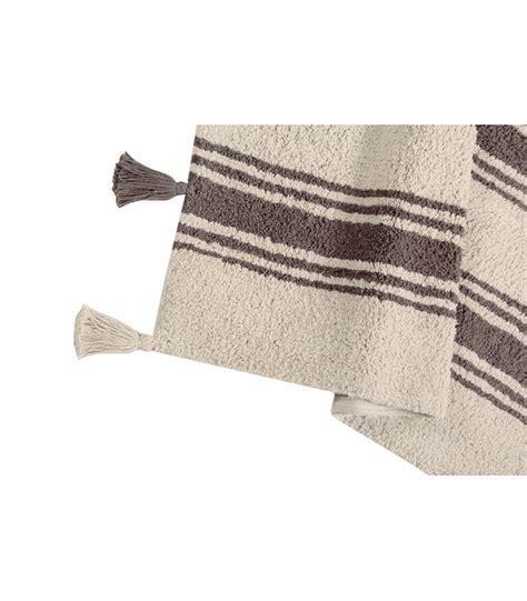 tappeti a righe tappeto lavabile a righe grigio scuro