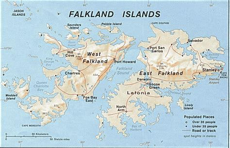 map of the islands falkland islands