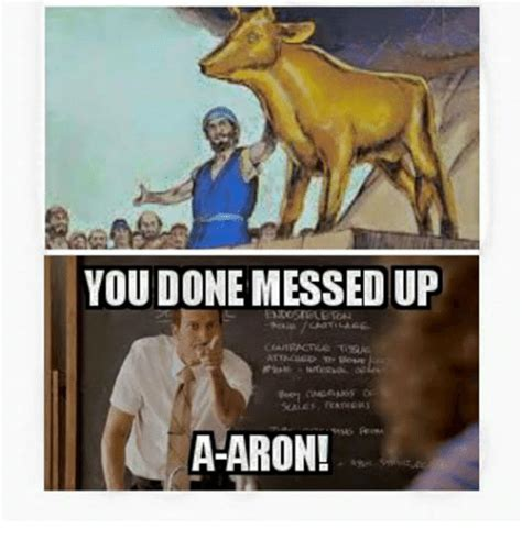 You Fucked Up Memes - you done messed up a aron ups meme on sizzle