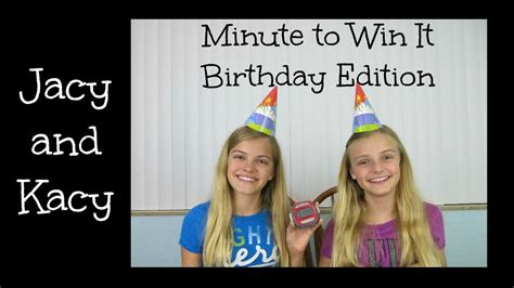 minute to win it challenges to do at home minute to win it challenge birthday edition jacy and