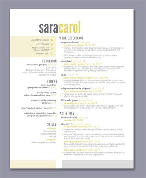 snhu 303 resume template 25 best ideas about cool resumes on cv ideas