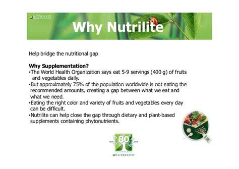 Suplemen Nutrilite nutrilite organic supplements