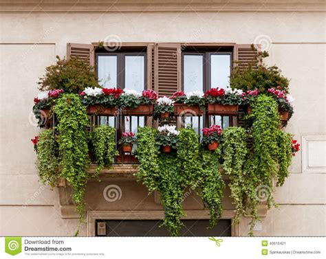 balcony flowers balcony with flowers stock photo image 40610421