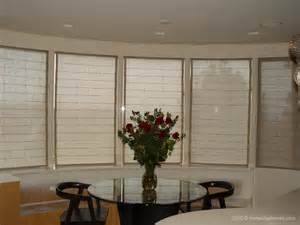 Bow Window Coverings Hemp Roman Shades Blinds For Bay Or Bow Window Treatment