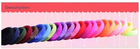 Rubber Fabric Hair Tie elastic rubber band hair tie ponytail holder fabric cloth