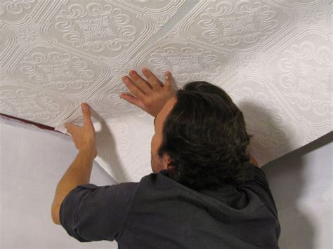 Wallpaper Ceiling Ideas by How To Hang Wallpaper On A Ceiling How Tos Diy