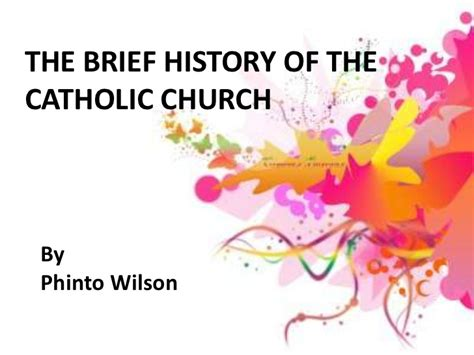 Early Christianity A Brief History a brief history of catholic church