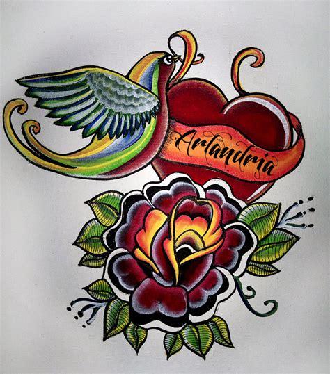 old school heart tattoo designs 27 school tattoos designs and ideas inspirationseek