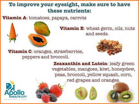 foods for better eyesight important vitamins nutrients for your eye sight