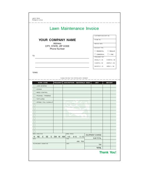 lawn care invoice template free lawn care invoice template word invoice exle