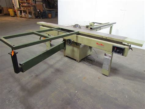 scmi sliding table saw scmi mini max s300ps sliding table saw 230v 3ph 7 5 hp w