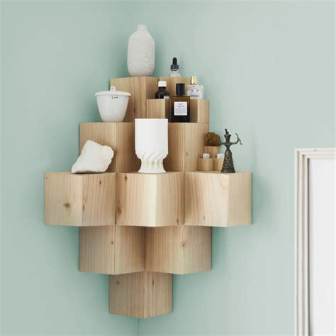 15 Ways To Diy Creative Corner Shelves Corner Shelf Wood Corner Shelves