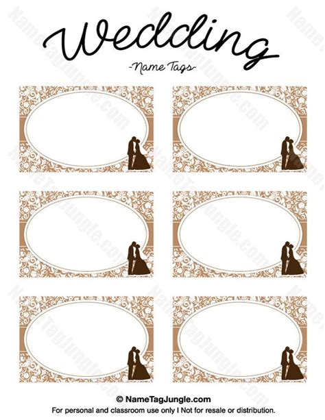Wedding Name Tags by Free Printable Wedding Name Tags The Template Can Also Be