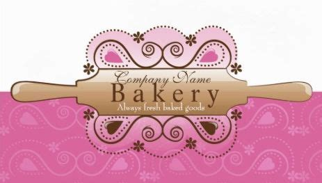 rolling pin and whisk business card template pink 60 best girly bakery and confectionery business cards