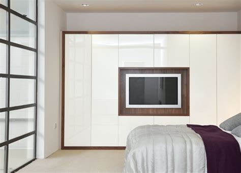Fitted Wardrobes With Tv Space by Fitted Wardrobes With Built In Tv Hyperion Furniture