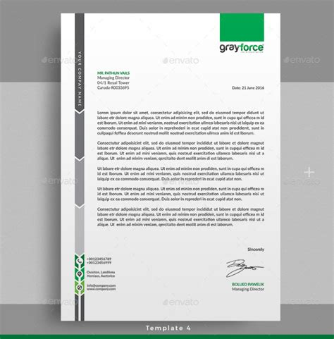 creative professional letterhead template word