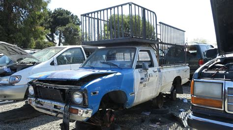 toyota car yard junkyard find 1981 toyota pickup scrap hunter edition