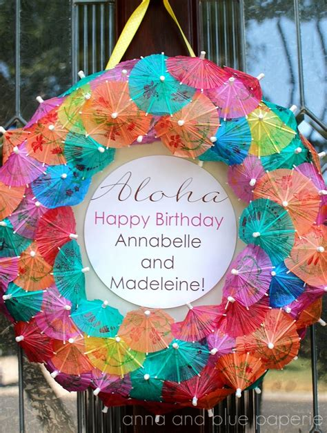 birthday themes hawaii anna and blue paperie aloha summer birthday party part one