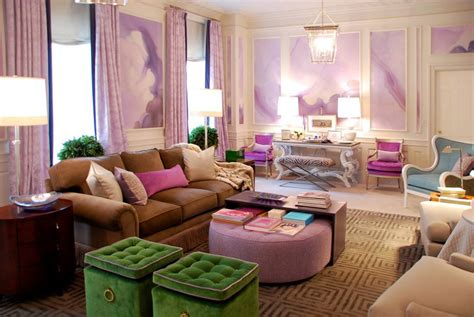 pink and green living room purple pink and green living art interiors by color
