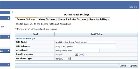 tutorial php admin panel php adminpanel script getting started apphp