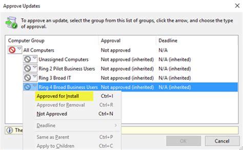 install windows 10 via wsus deploy windows 10 updates using windows server update