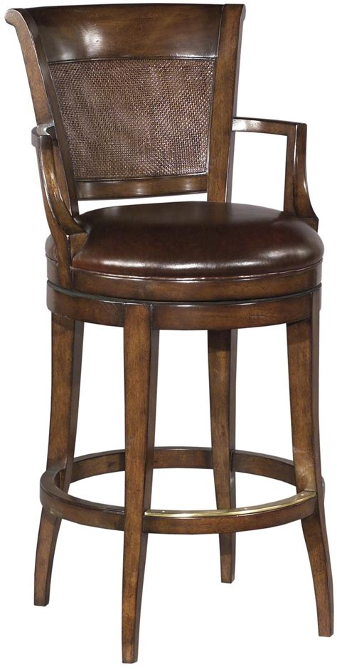 Distressed Leather Bar Stools by New Swivel Counter Stool Panel Back Chocolate