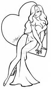 jessica rabbit coloring pages selfcoloringpages