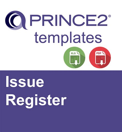 what template is this prince2 issue register ebalance