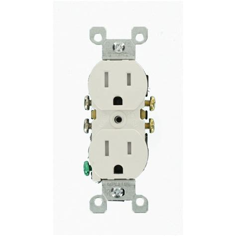 leviton 15 ter resistant duplex outlet white 10