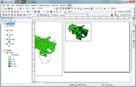 landscape layout view arcmap using arcmap