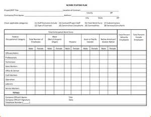 Staffing Plans Template by 14 Staffing Plan Template Plantemplate Info